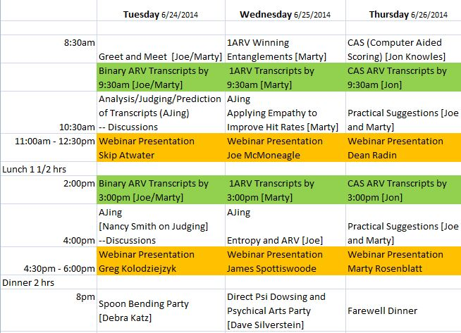 Webinar Agenda2014